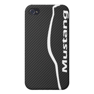 Mustang GT Coupe White Silhouette Logo iPhone 4 Covers