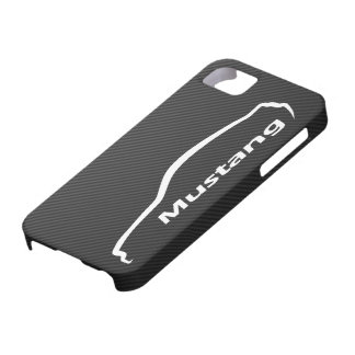 Mustang GT Coupe White Silhouette Logo iPhone SE/5/5s Case