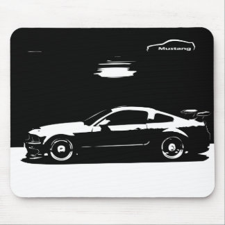 Mustang GT Coupe with White Silhouette. Mouse Pad