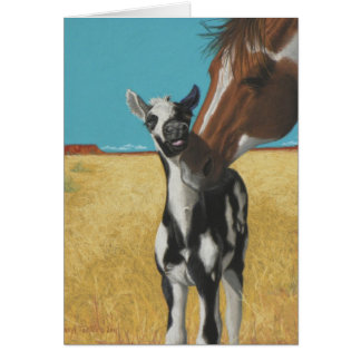 Mustang, horse card