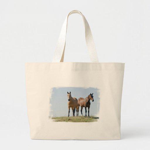 Mustang Horse Pair Canvas Bag
