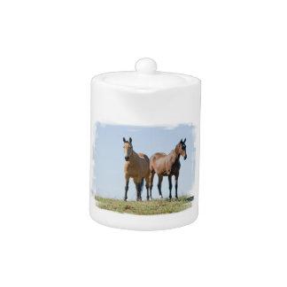 Mustang Horse Pair Teapot