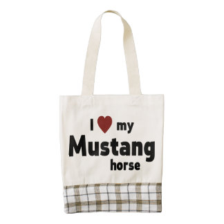 Mustang horse zazzle HEART tote bag