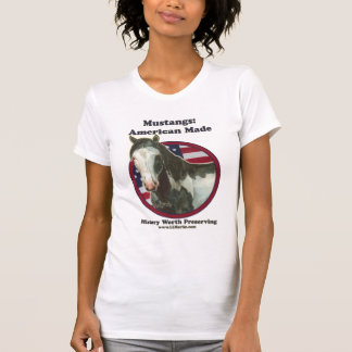 Mustang Made in America Woman's Fitted Tank SAF