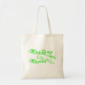 Mustang Mamas Green Logo Tote