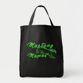 Mustang Mamas Logo Grocery Tote