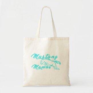 Mustang Mamas Teal Logo Tote