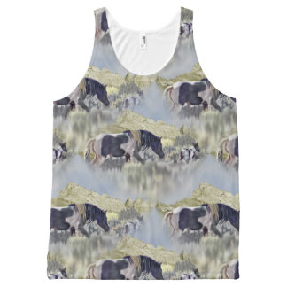 Mustang Mare and Foal All-Over-Print Tank Top