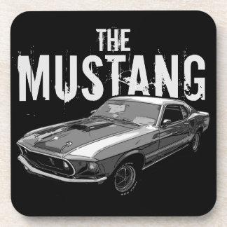 Mustang mechanical power drink coaster