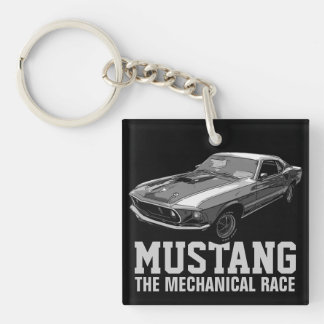 Mustang mechanical power keychain