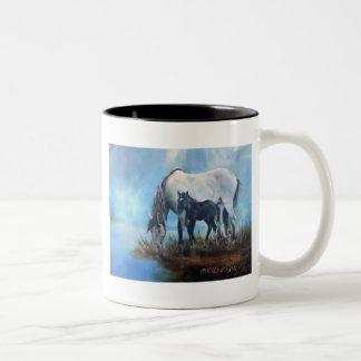 Mustang Morning Two-Tone Coffee Mug