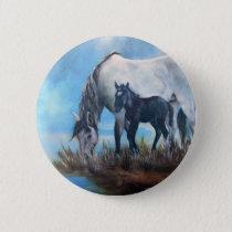 Mustang Morning Pinback Button