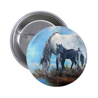 Mustang Morning Pinback Button