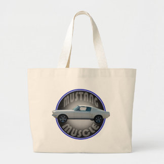 mustang muscle tote bags