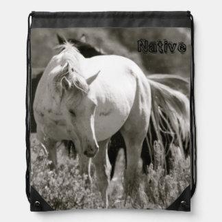 Mustang Native Drawstring Bag