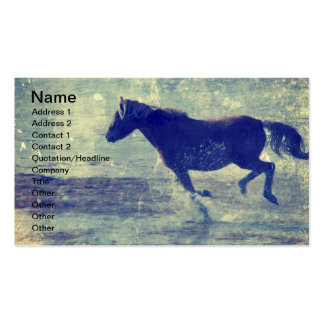 Mustang on the Beach Double-Sided Standard Business Cards (Pack Of 100)