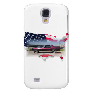 Mustang Over American Flag.png Samsung Galaxy S4 Case