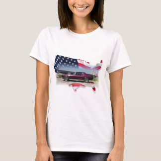 Mustang Over American Flag.png T-Shirt