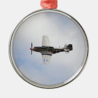 Mustang P51 Metal Ornament
