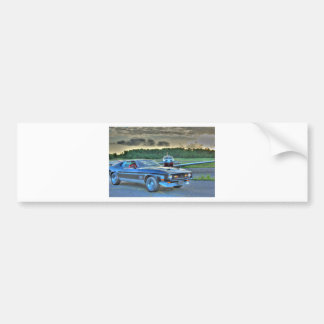 Mustang Plane Car HDR Cool Photo Picture Gift Bumper Sticker
