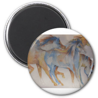 Mustang Portrait 2 Inch Round Magnet