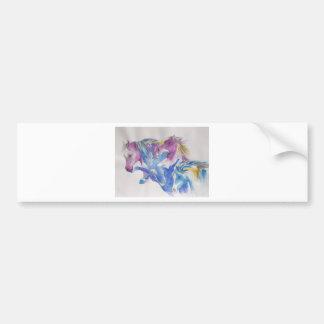 Mustang Portrait in Pastel Bumper Sticker