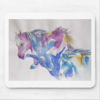 Mustang Portrait in Pastel Mouse Pad