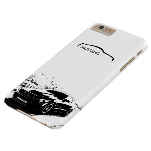 """Mustang Rolling Shot - """"add your own text"""" Barely There iPhone 6 Plus Case"""
