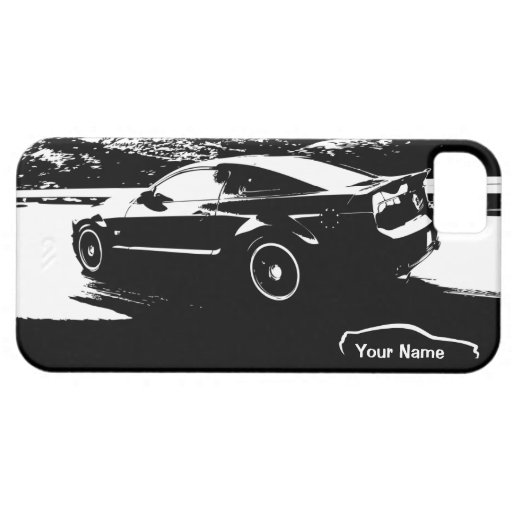 """Mustang Rolling Shot - """"add your own text"""" iPhone 5 Covers"""
