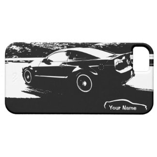 "Mustang Rolling Shot - ""add your own text"" iPhone SE/5/5s Case"