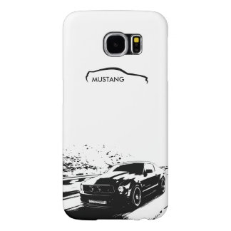 "Mustang Rolling Shot - ""add your own text"" Samsung Galaxy S6 Case"