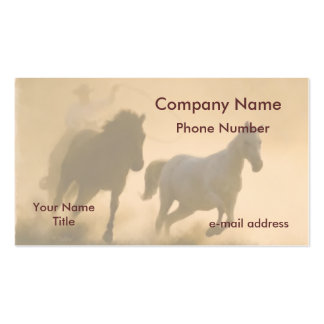 Mustang roundup Double-Sided standard business cards (Pack of 100)