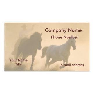 Mustang roundup business card templates
