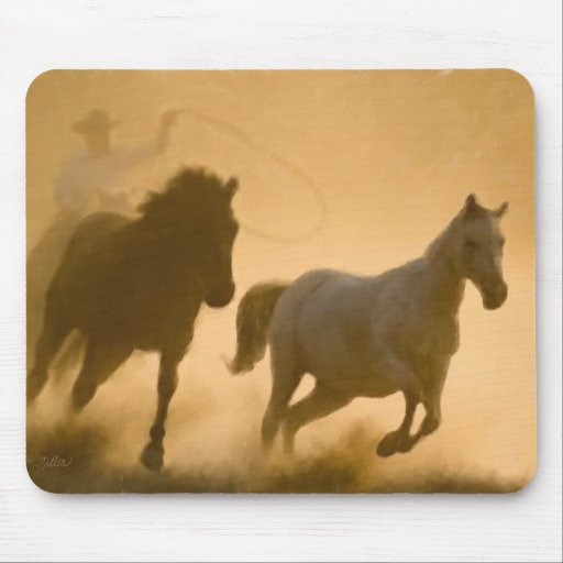 Mustang Roundup Mouse Pad