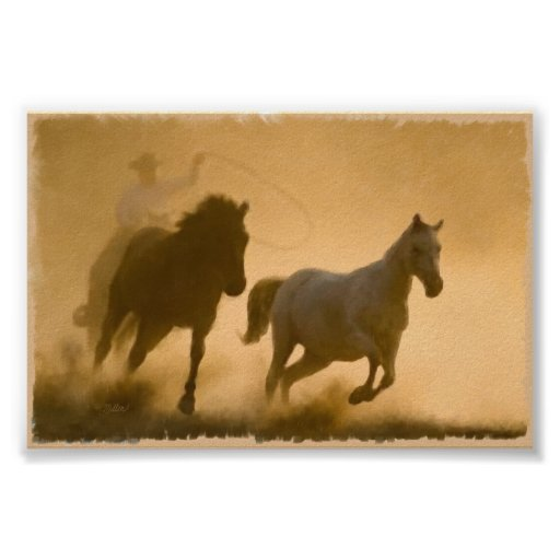 Mustang Roundup Print