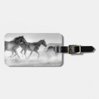 Mustang Run Luggage Tag