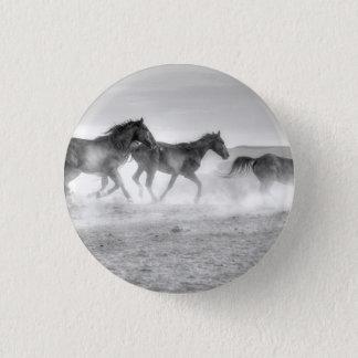 Mustang Run Pinback Button