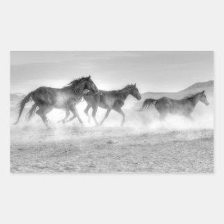 Mustang Run Rectangular Sticker