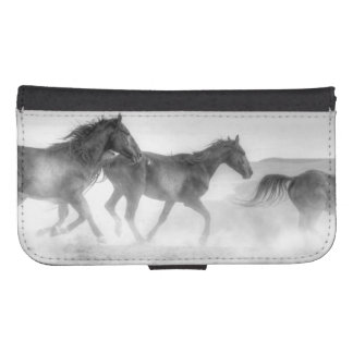 Mustang Run Wallet Phone Case For Samsung Galaxy S4