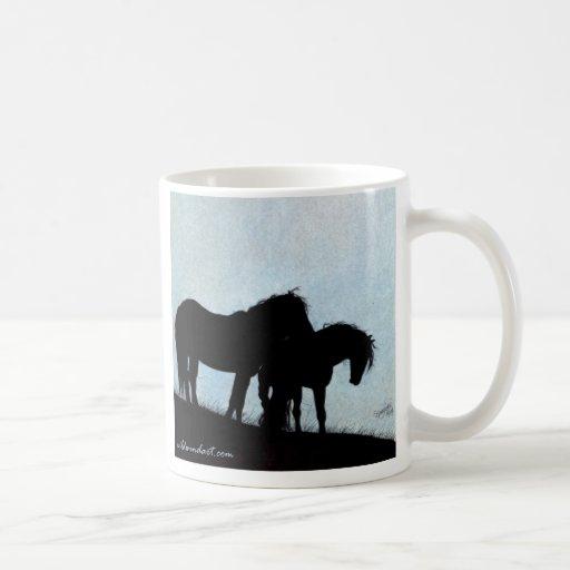 Mustang Silhouette Ceramic Mug