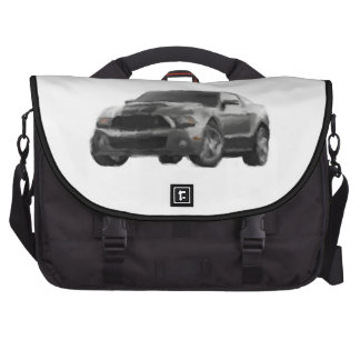 Mustang Sports Car Hand Painted Art Laptop Bag