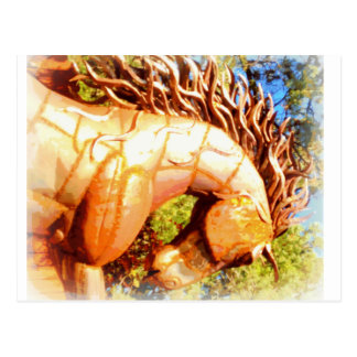 mustang stallion postcard