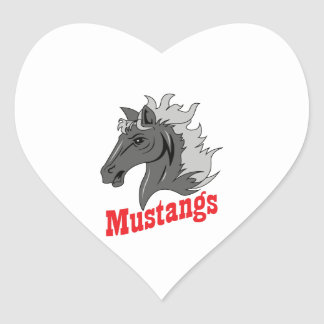MUSTANG HEART STICKERS