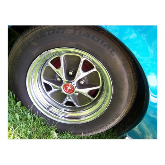 mustang tire postcard
