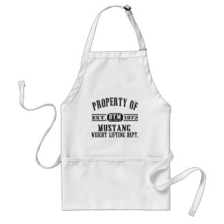 Mustang Weight Lifting! Adult Apron