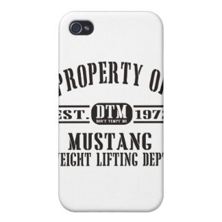 Mustang Weight Lifting! iPhone 4/4S Covers
