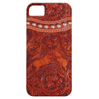 mustang  western leather  iphone 5 case