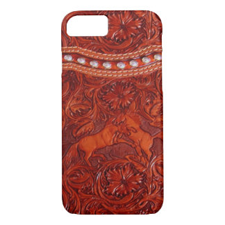 mustang western leather iPhone 7 case