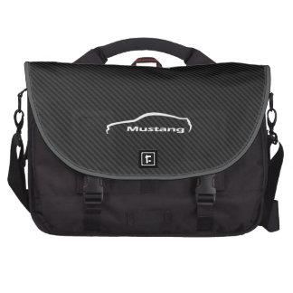 Mustang white brushstroke logo bags for laptop