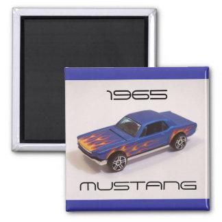 Mustango 1965 imán cuadrado
